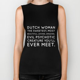 dutch woman the sweetest most beautiful dutch Biker Tank