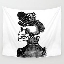 Calavera Woman   Skeleton Woman   Day of the Dead   Dia de los Muertos   Skulls and Skeletons   Vintage Skeletons   Posada   Wall Tapestry