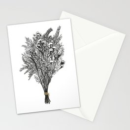 Dry Bouquet with Gold String Stationery Cards