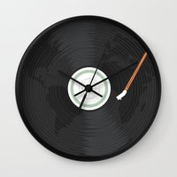 record Wall Clocks featuring World Record by Ryder Doty