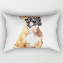 French Bulldog Puppy Watercolor Rectangular Pillow