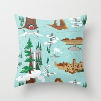 the national Throw Pillows featuring National Parks by Julie's Fabrics & Thingummies