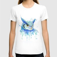 hedwig T-shirts featuring Color Hedwig  by Simona Borstnar