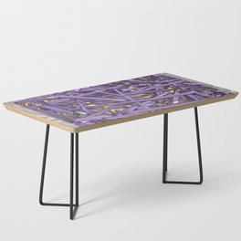 PURPLE KINDLING AND GLOWING EMBERS ABSTRACT Coffee Table