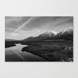 Black and White Nevada Canvas Print