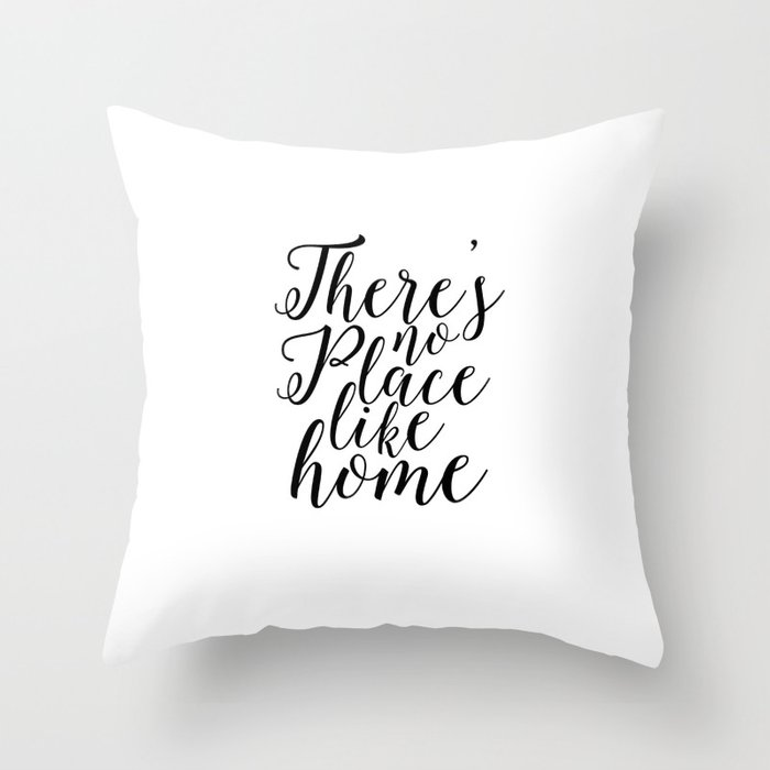 Home Sweet Typography Poster There Is No Place Like Printable Quotes Decor