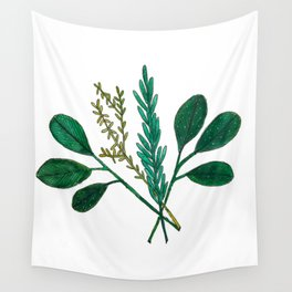 Herbs Wall Tapestry
