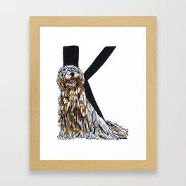 Komondor Framed Art Print