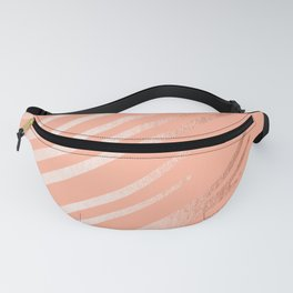 Sweet Life Swipes Peach Coral Shimmer Fanny Pack