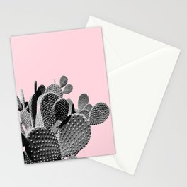 Bunny Ears Cactus on Pastel Pink #cactuslove #tropicalart Stationery Cards