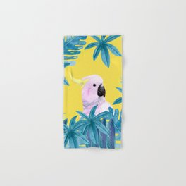 Tropical Cockatoo with Illuminating Background Hand & Bath Towel