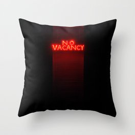 No Vacancy sign in red Throw Pillow