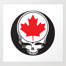 Canadian Steal Your Face Art Print