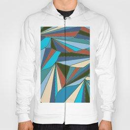 blues in triangle pattern Hoody