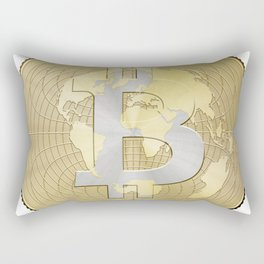 Bitcoin Crypto Currency Rectangular Pillow
