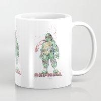 teenage mutant ninja turtles Mugs featuring Raphael Teenage Mutant Ninja Turtles by Carma Zoe