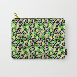 Green Floral Haze Carry-All Pouch