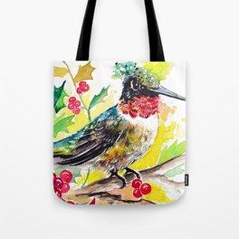 Christmas hummingbird 2 Tote Bag