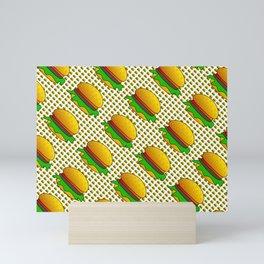 Burgers Lovers Diagonal Pattern Mini Art Print