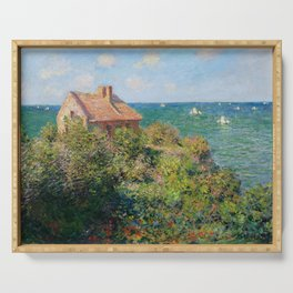 Fisherman's Cottage on the Cliffs at Varengeville Claude Monet Serving Tray