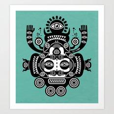 Râ Tatoo Art Print