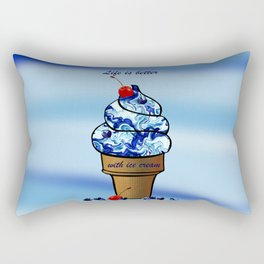 Life is better with ice cream2 Rectangular Pillow