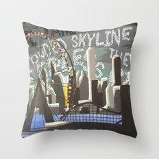 Crowded Skyline Throw Pillow