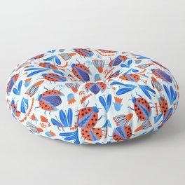 Classic Ladybug Botanical  Floor Pillow