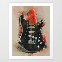 David Gilmour's electric guitar Art Print