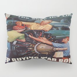 Vintage poster - War Bonds Pillow Sham