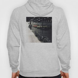 Colorful Cars Reflecting On Black Carrier Vehicle Hoody