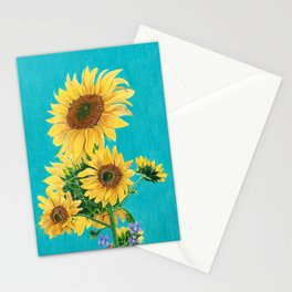 Sunflowers & Friends Stationery Cards