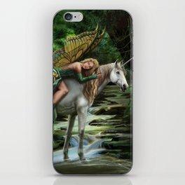 Sleeping Fairy on Unicorn iPhone Skin