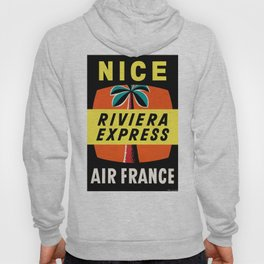 1958 Air France Nice Riviera Express Airline Poster Hoody