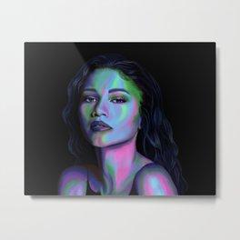 Zendaya in Color Metal Print