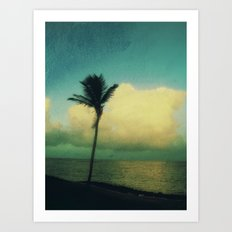 sunset solo Art Print