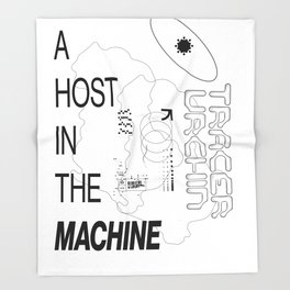 Ghost in the Machine Throw Blanket