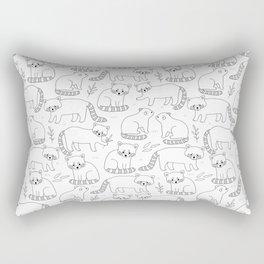 Cute red pandas Rectangular Pillow