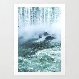 From below where all the water falls, Niagara 03 Art Print