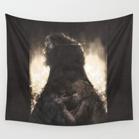 thorin Wall Tapestries featuring Gold sickness by ScottyTheCat
