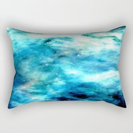 Ocean Blues Nebula galaxy Rectangular Pillow