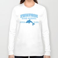 iwatobi Long Sleeve T-shirts featuring Iwatobi - Dolphin by drawn4fans
