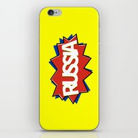 russia iPhone & iPod Skins featuring Russia by mailboxdisco