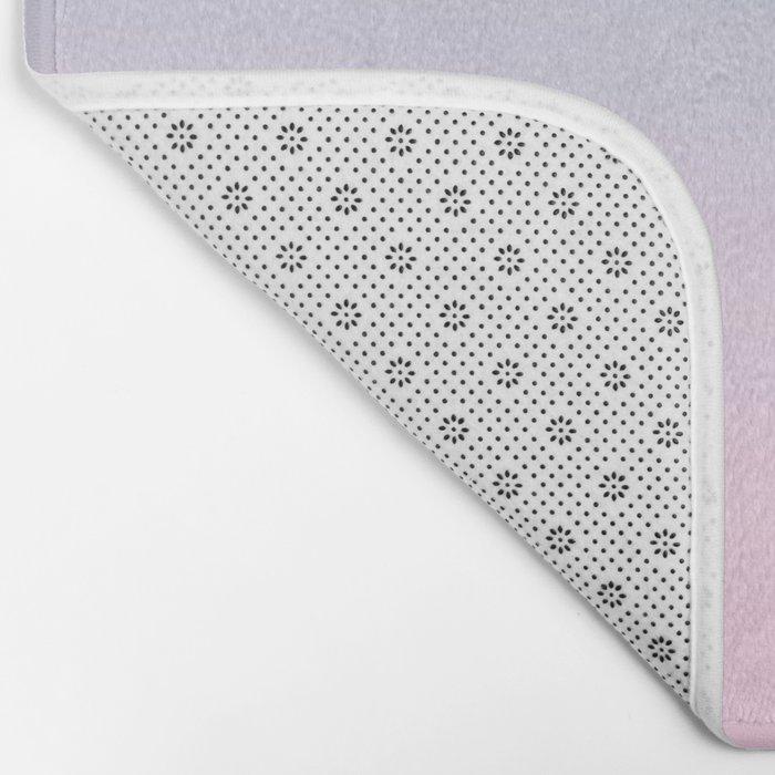VAPORWAVE - Minimal Plain Soft Mood Color Blend Prints Bath Mat
