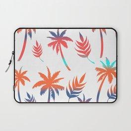 Palm Tree Summer Vibes and Leaf Print Laptop Sleeve