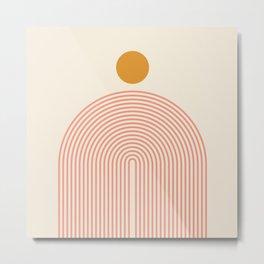 Abstraction_SUN_LINES_VISUAL_ART_Minimalism_001 Metal Print
