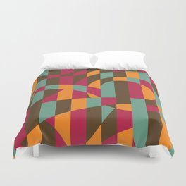 Abstract Graphic Art - Roller Coaster Duvet Cover