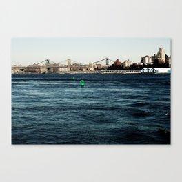 Green Buoys Canvas Print