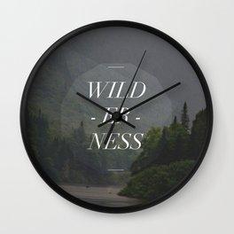 WILDERNESS — Wall Clock
