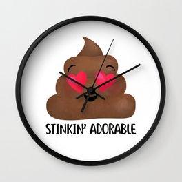 Stinkin' Adorable - Poop Wall Clock